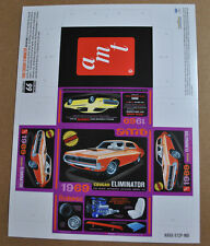 AMT 1/25 1969 MERCURY COUGAR ELIMINATOR CUT & FOLD MINI BOX WITH RETRO BOX ART!