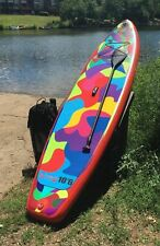 "Boierto 10'6'' Inflatable SUP Stand Up Paddle Board Package, 6"" Thick w/ Paddle"