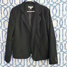 MERONA Target Womens Sz L Blazer Open Jacket Suit Career Coat Topper Black Work
