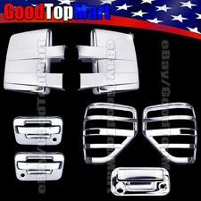 Chrome Covers For Ford F150 2009-2014 Mirrors+2 Doors KH+Tailgate Cam+Tail Light