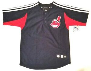 Cleveland Indians Chief Wahoo Jersey Vintage Team Logo Youth adidas