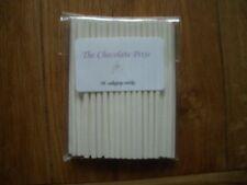 50 x 6''/15CM WHITE HOLLOW PLASTIC LOLLY STICKS/LOLLIPOPS/LOW PRICE/FREE POSTAGE