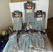 Thirteen Pair of Mid West Leather Palm Size Large Work Gloves New Old Stock