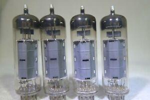 Matched Quad Philips/Amperex EL84/6BQ5 D-Getter Sittard Holland rX3 1959