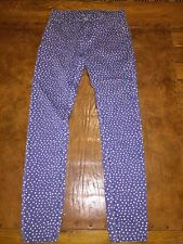Blank NYC Blue White Polka Dot Skinny Jeans Juniors Size 9 Cotton Spandex