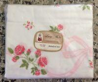 "Vtg SPRINGMAID ""Embroidered Rose"" Twin Flat Sheet/NIP/100% Cotton Muslin/72x108"