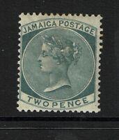 Jamaica SG# 20a Slate Mint Hinged / Hinge Rem / Light Crease - S1131