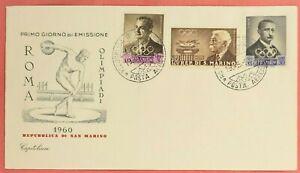 OLYMPICS 1960 ROME - SAN MARINO Cover 1959 - UNADDRESSED