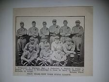 Troy Trojans 1915 Baseball Team Picture Eddie Matteson Frank Bruggy Ted Reed