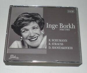 INGE BORKH / PART TWO  - SCHUMANN - STRAUSS ET AL - 2 CD SET - FREE P&P UK