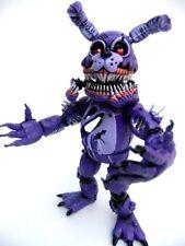 """Mexican toy FIVE NIGHTS AT FREDDYS TWISTED Bonnie 8"""" w light Bootleg horror FNAF"""