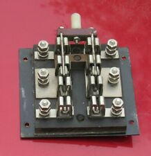 Industrial Electrical Knife Switch 2 Pole Double Throw Slate Base Stainless