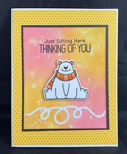 New ListingHandmade Greeting Card~Polar Bear~Thinking of You~My Favorite Things