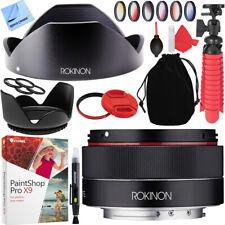 Rokinon 35mm f/2.8 FE (IO35AF-E) Ultra Compact Wide Angle Lens Sony E Mount Kit