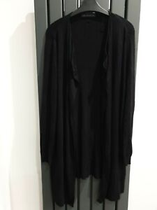 MARKS & SPENCER Black Waterfall Cardigan Size M
