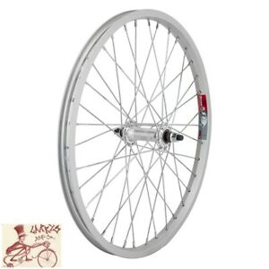 """WHEEL MASTER   20"""" x 1.75"""" SILVER ALLOY BICYCLE FRONT WHEEL"""