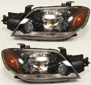 MITSUBISHI Outlander 2003-2005 front head lamps lights for LHD one set Manual