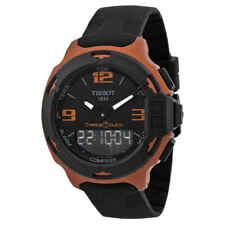 Tissot T-Race Touch Black Dial Orange Rubber Men's Watch T0814209705703