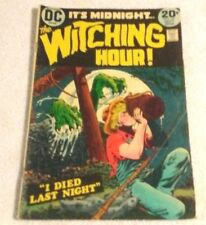 Comic Book Rare Old Dc Bronze Age The Witching Hour 1973 Vol 5 # 34 5.5