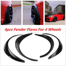 New 4pcs Universal Car Body Kits Fender Flares Flexible Durable Polyurethane PU