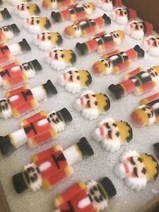 24 Edible Sugar Icing Christmas Nutcracker Cupcake Toppers Decorations Party