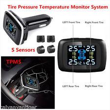 Car TPMS Tire Tyre Pressure Temperature Monitor System+Sensors Cigarette Lighter