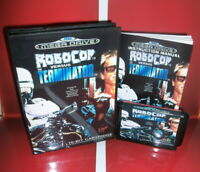 RoboCop Versus Terminator EU Cover with Box and Manual Sega Megadrive Genesis MD