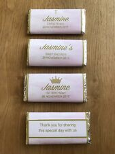 Pink Watercolour Personalised Chocolate Wrapper~Birthday, Baby Shower, Bridal