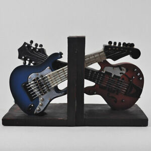 Pair of Book Ends   Guitars Musicians Gift Ideas