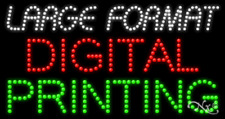 New Large Format Digital Printing 32x17 Solidanimated Led Sign Woptions 21739