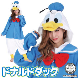 SAZAC Disney Donald Duck Fleece Costume Halloween Cosplay Kigurumi Adult Japan