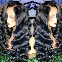 Wavy Peruvian Remy Human Hair Silk Top Full Lace Wig Lace Front Wigs Black Women