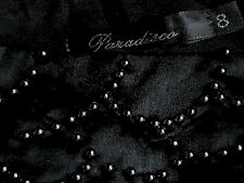 PARADISCO BeadedBlkSatinSheer1ShoulderedParty Sz8