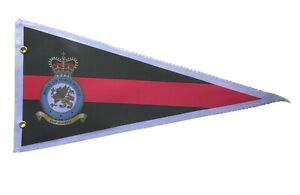 RAF Police (RAFP) crest pennant  12 x 6' plastic with metal clips