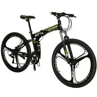 "27.5"" Full Suspension Mountain Bike Shimano 21 Speed Folding Bicycle Men MTB"