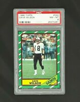 1986 Topps #340 Dave Wilson New Orleans Saints PSA 8 NM-MT