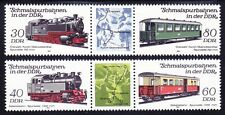 Germany DDR 2405-06 MNH 1984 RAILROAD Cars Pairs w/Labels Very Fine