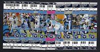 2012 NFL TENNESSEE TITANS FULL UNUSED FOOTBALL TICKETS - ENTIRE HOME SEASON