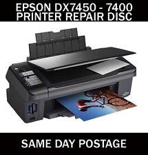 EPSON STYLUS PHOTO DX7450 -7400  RESET SERVICE INKPAD ERROR DISC *
