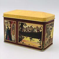 """Vintage Snow White & the Seven Dwarfs Rectangular Candy Tin 4 7/8"""" x 2 3/4"""" Rare"""
