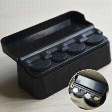Black Car Auto Interior Plastic Coin Case Storage Box Holder Container Organizer