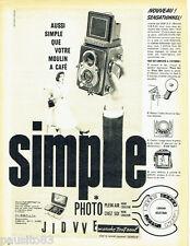 PUBLICITE ADVERTISING 076  1957  SEM appareil photo Semflex