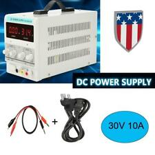 30V 10A Variable Digital DC Regulated Power Supply Adjustable Lab Grade w/ Cable