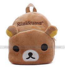New Rilakkuma Relax Bear Backpack Child Preschool Bag Plush Schoolbag Candy Bag