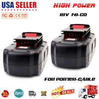2X18V 18Volt NiCd Replacement Battery for Porter Cable PC18B PCMVC Cordless Tool