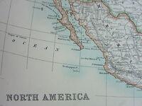1910 MAP ~ NORTH AMERICA UNITED STATES DOMINION OF CANADA MEXIOC CENTRAL AMERICA