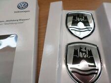 VW Volkswagen Wolfsburg Badge Set Black/chrome Dealer 5C0064317ASXRW
