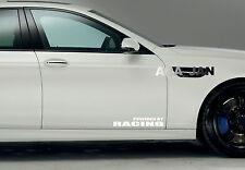 POWERED BY RACING Vinyl Decal sticker emblem sport speed car door logo WHITE