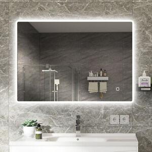 1000x700mm Illuminated LED Bathroom Mirror [IP44] with Bluetooth Speaker