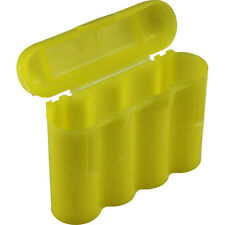 10 YELLOW AA AAA BATTERY BATTERY PLASTIC STORAGE CASE HOLDER BOX USA SHIP